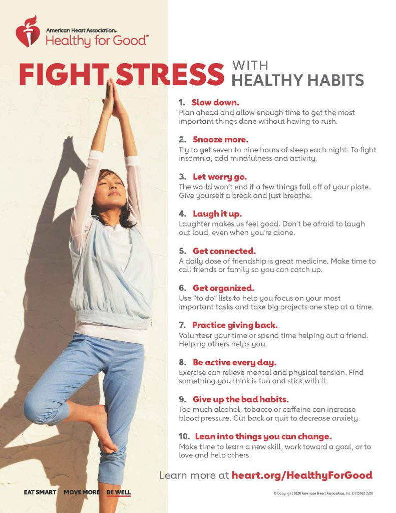 Fight Stress infographic